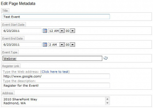A screenshot showing editing metadata in edit mode.