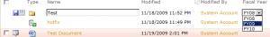 Setting metadata with folders
