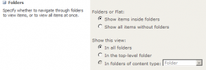 Folder settings for views.
