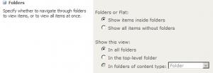 Folder settings for views.