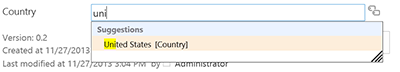 Using a formal term set in a column.