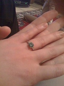 Here is the ring!