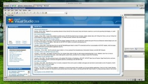 Visual Studio 2008 in Fusion